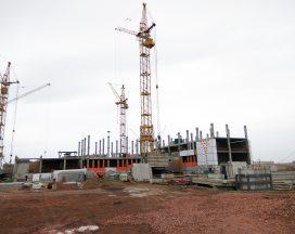 Строительство школы в микрорайоне Нанжуль-Солнечный идет согласно графику