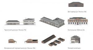 Фасад домов г. Енисейска