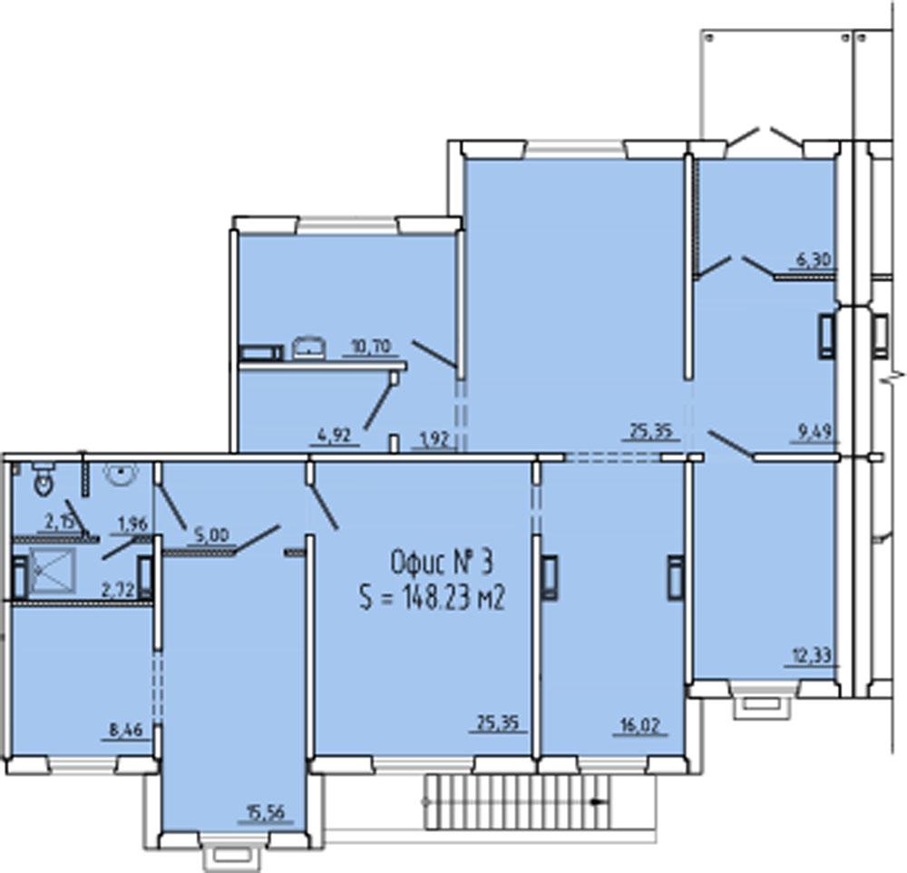 Планировка № 1394; офис 1003